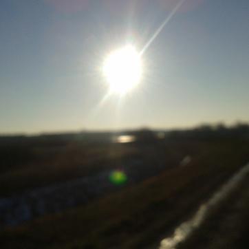 Kiedy słońce było... wyraźne, a krajobraz nie.