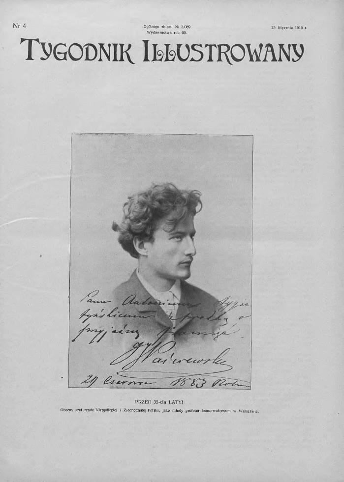Ignacy Paderewski w 1883 r