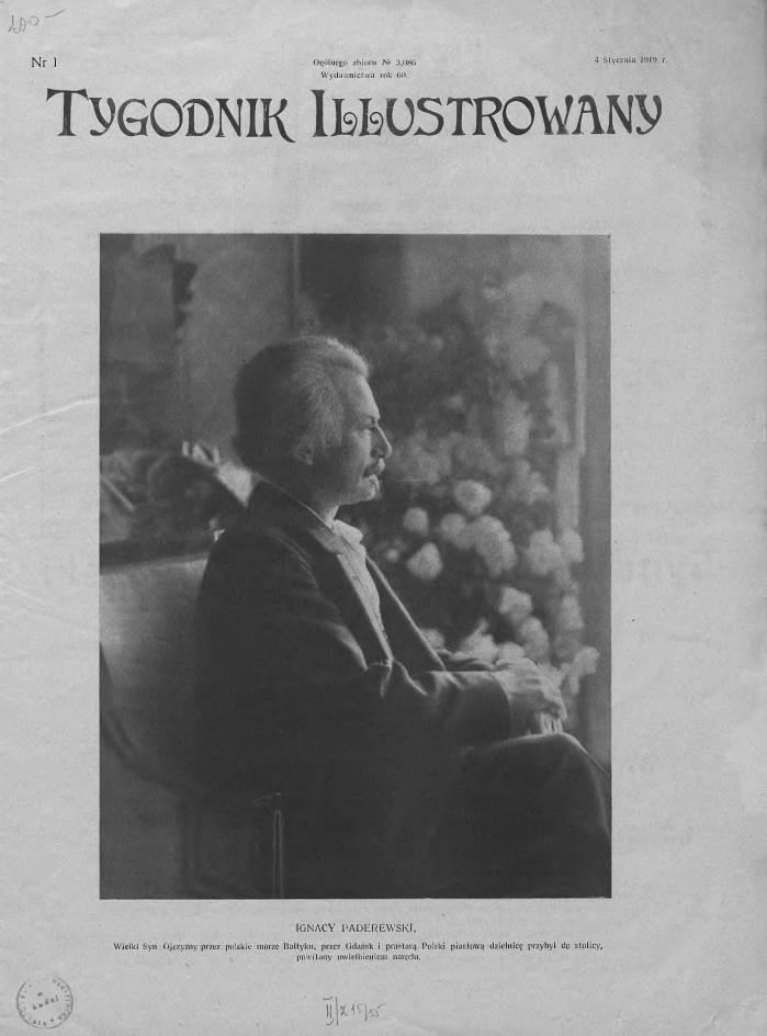 Ignacy Paderewski w 1918 r