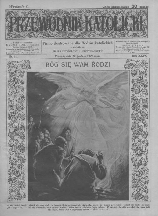 Przewodnik Katolicki 1929, nr 52.Wielkopolska Biblioteka Cyfrowa.