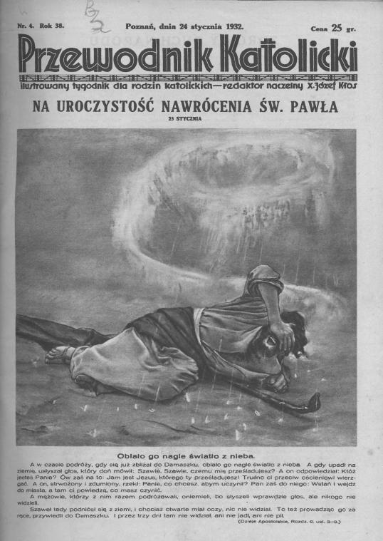 Przewodnik Katolicki 1932, nr 4.Wielkopolska Biblioteka Cyfrowa.