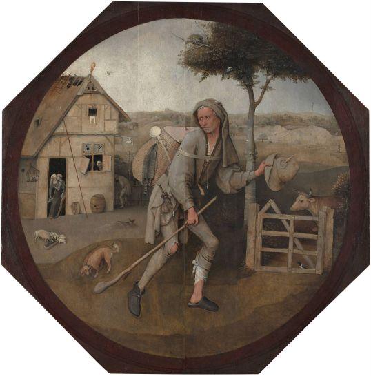 WędrowiecHieronim Bosch, po 1498olej na desce71,5 (średnica) × cmMuseum Boijmans Van Beuningen