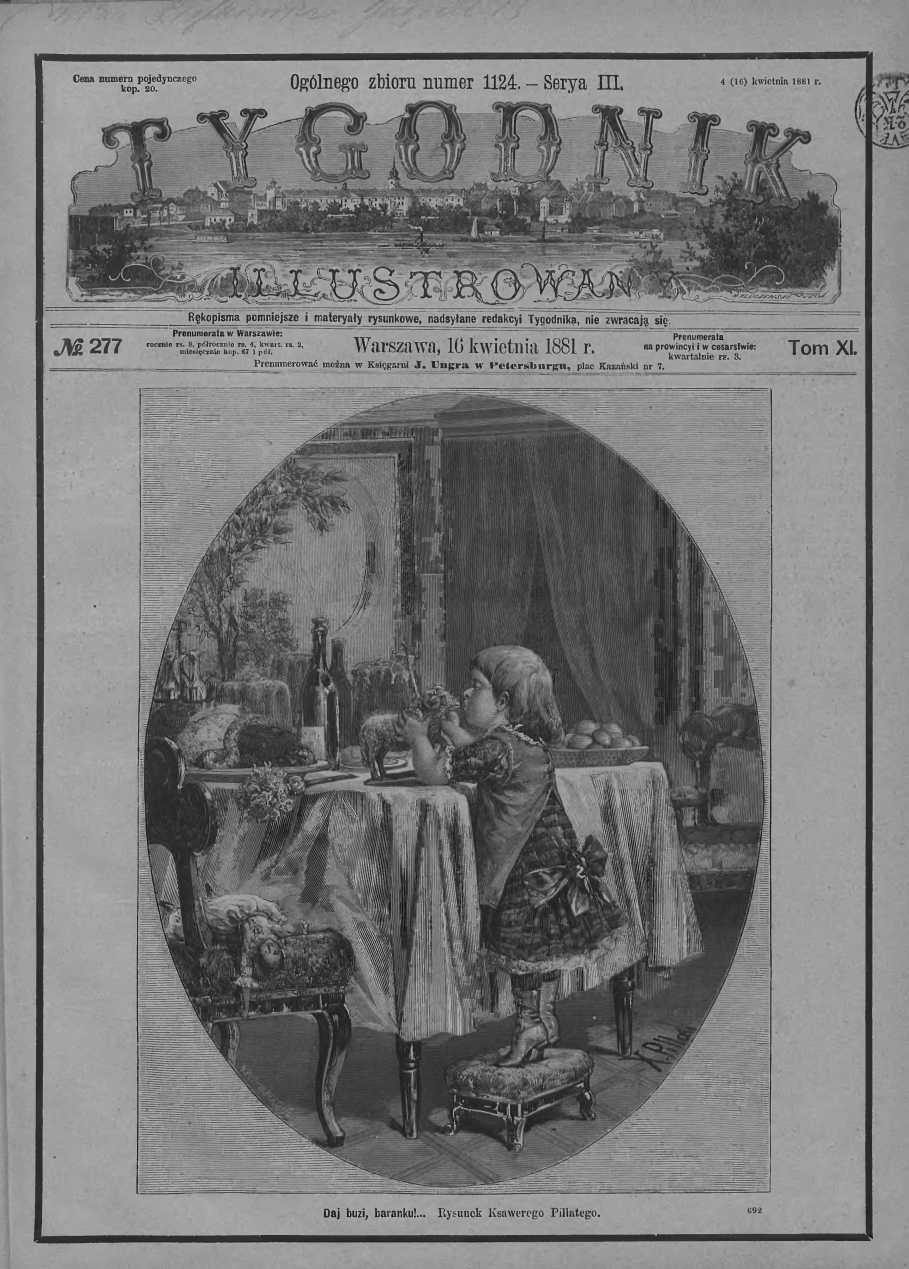 Tygodnik Ilustrowany 1881, nr 277.Biblioteka Cyfrowa Uniwersytetu Łódzkiego.
