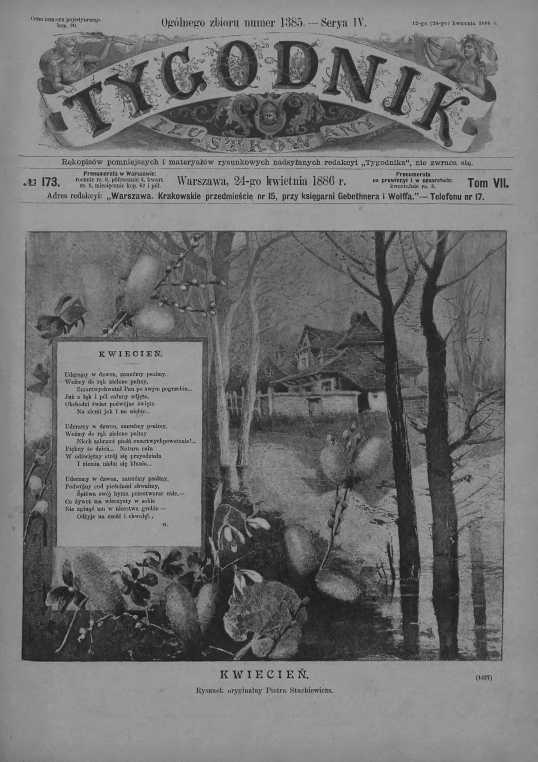 Tygodnik Ilustrowany 1886, nr 173.Biblioteka Cyfrowa Uniwersytetu Łódzkiego.