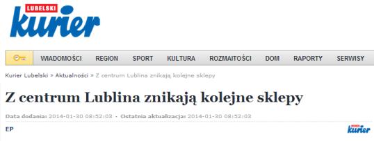 Z centrum Lublina znikają kolejne sklepy   Kurierlubelski.pl