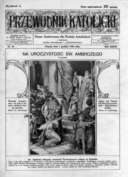 Przewodnik Katolicki 1930, nr 49. Wielkopolska Biblioteka Cyfrowa.