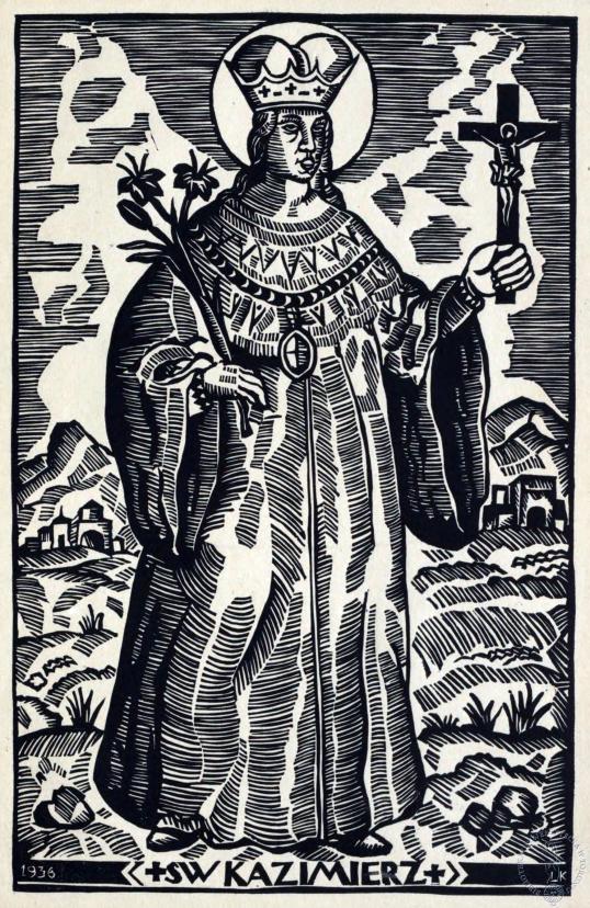 """""""Święty Kazimierz"""" Leon Kosmulski (1904-1952) Kujawsko-Pomorska Biblioteka Cyfrowa"""