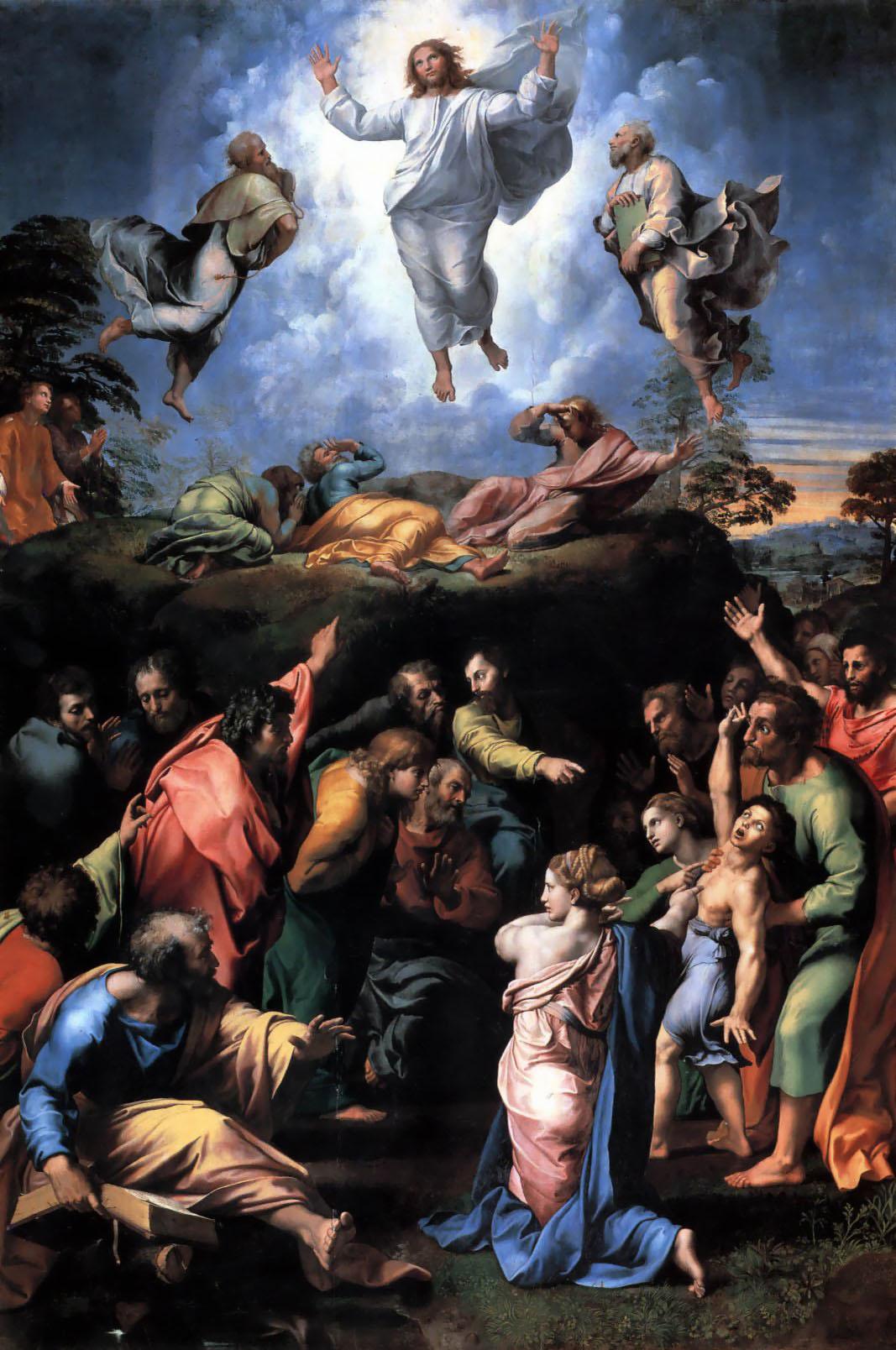 """""""Przemienienie Pańskie"""" Rafael Santi (1483-1520) Zasoby Wikipedii."""