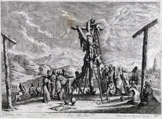 Johan Wilhelm Baur, Zdjęcie z krzyża, 1670.
