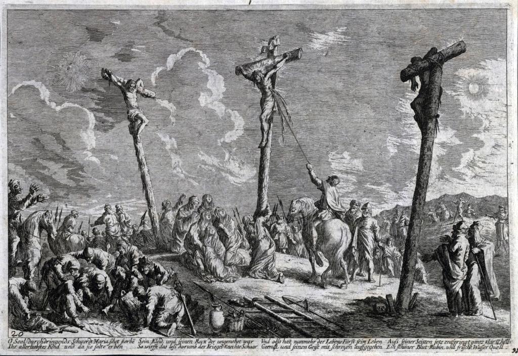 Johan Wilhelm Baur, Przebicie włócznią boku Chrystusa, 1670.